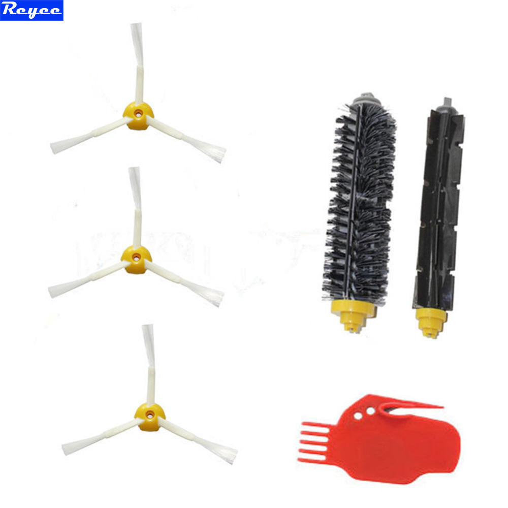 Flexible Beater Brush Plastic Bristle Brush 3-armed for iRobot Roomba 700 series 770 780 790 Clean Tool Vacuum Robots Free Post ntnt 1bristle brush 1 flexible beater brush 1side brush for irobot roomba 600 700 series vacuum cleaning robots 760 770 780 790