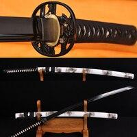 Handmade japoński samuraj full tang kwiat sword katana full black metal ostrze noża praktyka sharp może ciąć bambusy hurtownie