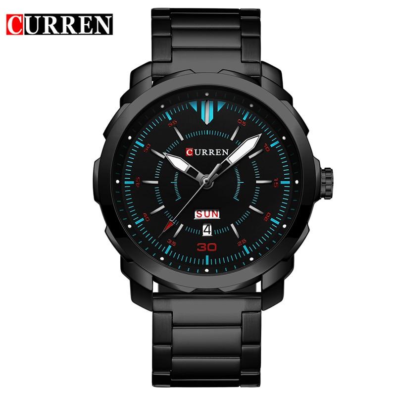 Curren Watch men 2017 top brand luxury relogio masculino quartz watch fashion casual auto date and calendar 8266