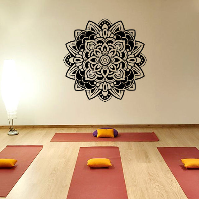 aliexpress : buy indiana yoga wall decals mandala meditation