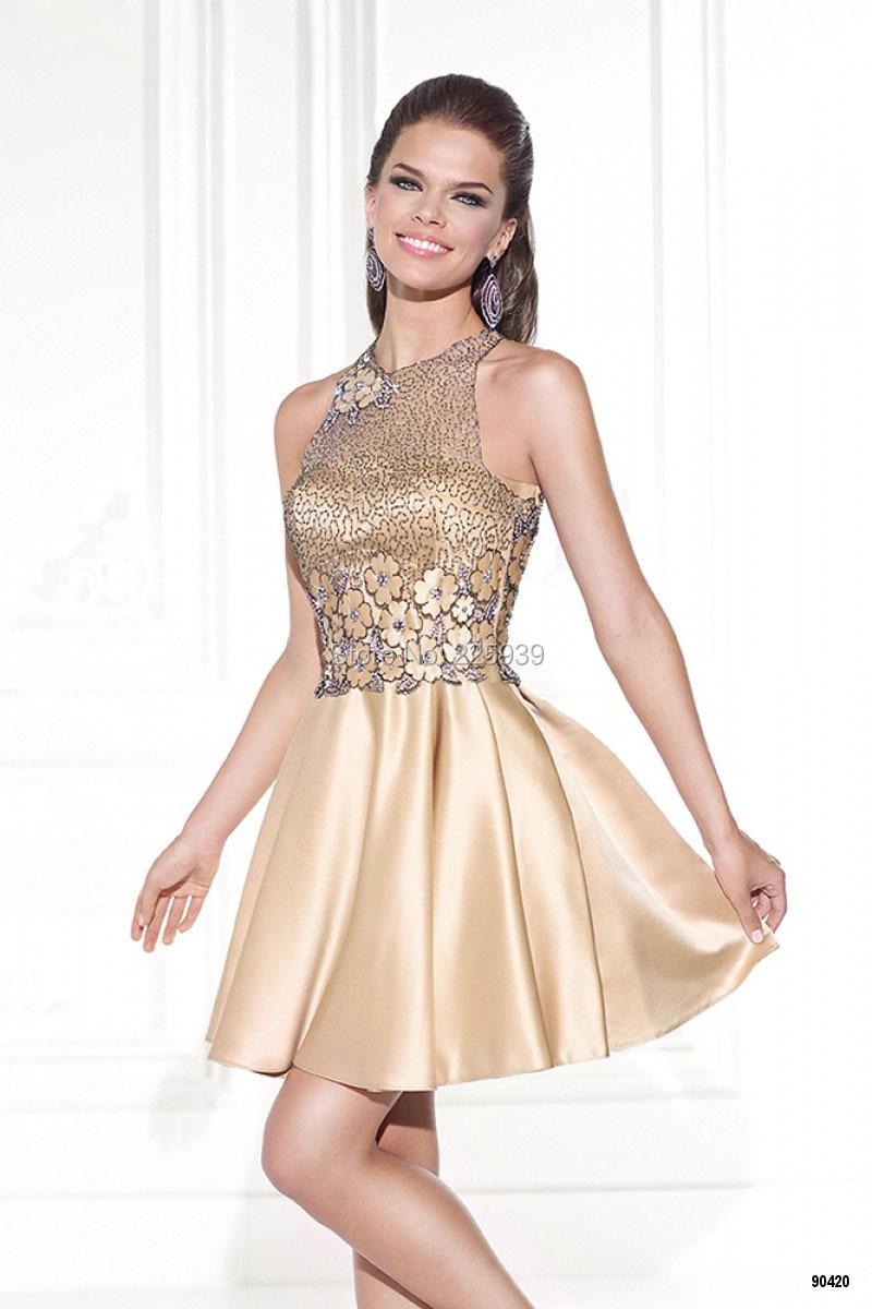 db71ee91af 2015 Hot venta O cuello rebordear pesado modelo de flores una línea Mini  corto satén vestidos fiesta con la chaqueta de los vestidos en Vestidos de  fiesta ...