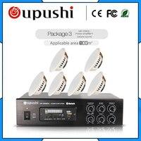 Professional фоновая музыка система общественного вещания 100 Вт аудио усилитель и потолочный динамик Набор bluetooth/SD/USB/радио
