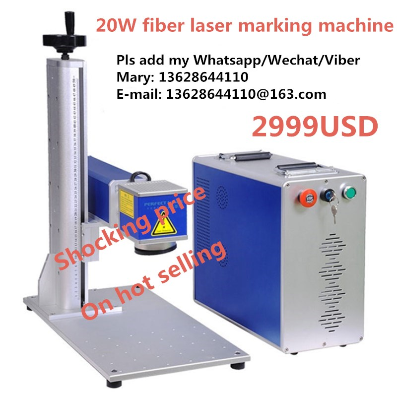 Energy Saving 20W/30W/50W fiber laser marking machine for steel, stainless steel, name card