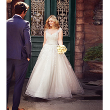 Verngo Ball Gown Wedding Dress Lace Appliques Wedding Gowns Backless Bride Dress Classic Wedding Dress 2019 Vestidos De Noiva verngo ball gown wedding dress appliques tull wedding gowns lace up bride dress princess wedding dress destido de noiva sereia