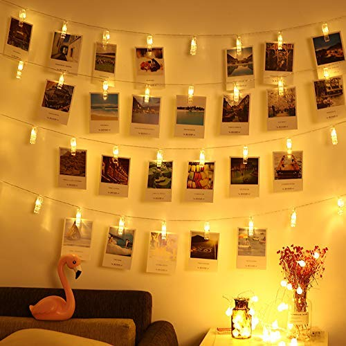 1M 3M LED Photo Clip Holder String Lights Christmas Garland Fairy Lights Battery For Valentines New Year Wedding Home Decoration