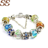 SPARSHINE European with Color bracelet made of crystal beads Bracelets Bangles for Women With fine jewelry DIY Pulseras