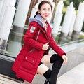Зимняя Куртка Женщины 2016 Зимнее Пальто Длинные Пальто Куртка хлопка Мягкий Капюшоном Вниз Пальто Плюс Размер 4XL Abrigos Mujer D106