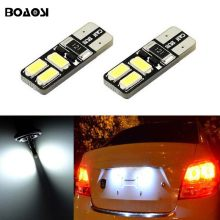 BOAOSI 2x T10 W5W LED Car Canbus bulbs t10 socket lamp license plate light For Chevrolet Cruze Camaro Captiva(China)