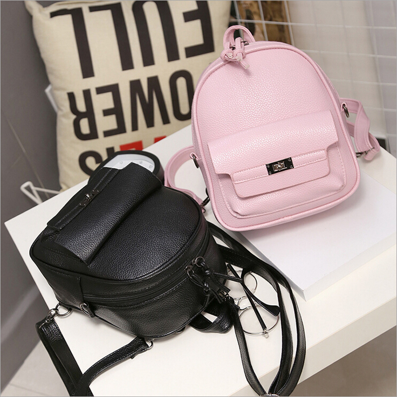 high quality 2017 new women PU leather student school bookbags shopping packages fashion casual travel bags