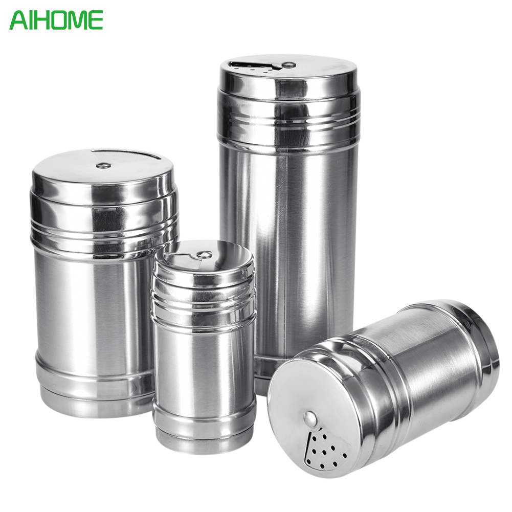 Stainless steel spice shaker jar sugar salt pepper herbs toothpick storage bottle bbq spice - Toothpick shaker ...