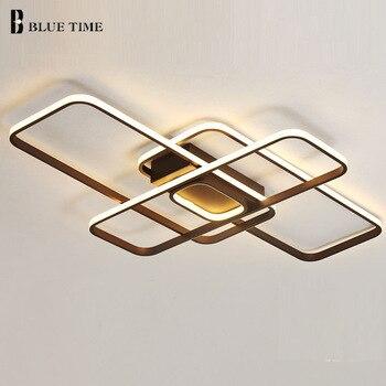 Najnowsze nowoczesny żyrandol Led światła do kawy 50 W/60 W/108 W do salonu sypialnia kryty Led żyrandol oświetlenie oprawa AC110-265V
