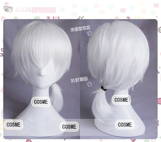 Kagerou Project Mekaku City Actors Konoha kuroha white cosplay wig Heat resistance fibre hair free shipping