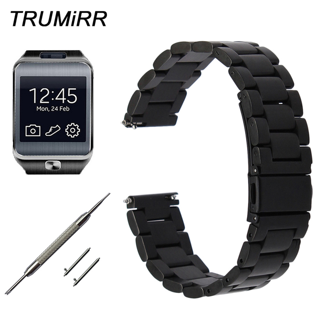 22mm Stainless Steel Watch Band Quick Release Strap for Samsung Gear 2 R380 Neo