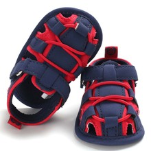 цена на Newborn Baby Girl Boy Shoes Summer Kid First Walkers Infant Soft Sole PU Crib Shoes Sneakers Prewalker Toddler Footwear Booties