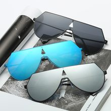 97a1e21a38 2017 Unisex Cool Men Women Retro Vintage UV400 Sunglasses Mirror Lens  Eyewear Wide Polygons Frame Design Outdoor
