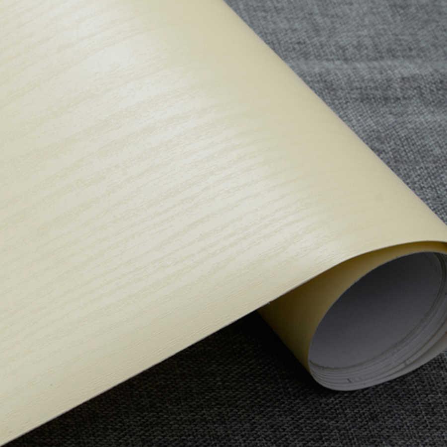 Thick White 5meter Decorative Film Modern Design Papel Mural PVC Wood Wallpaper for Bedroom Furniture Desktop Waterproof Sticker