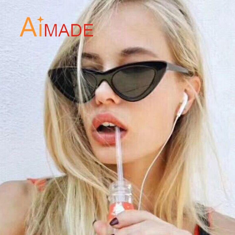 Aimade 2018 модные милые сексуальные ретро кошачий глаз Солнцезащитные очки для женщин Для женщин Винтаж Брендовая Дизайнерская обувь Cateye Защита от солнца Очки для женские UV400