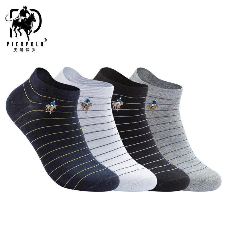 c6a4c92c5f Hipster Elite Men Polo Socks Striped 4 pairs Invisible Ankle Luxury Pride  Short Socks Dress Up