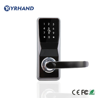 Electronic Door Lock Digital Keypad Door Lock unlock by pincode, Card and mechanical Key with 2 cards, 5 keychains, 2 keys