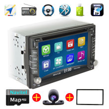 2016NEW 2 Din Car DVD GPS player Navigation Bluetooth speaker phone DJ music can play DVD CD/VCD/MP3 / MP4 / SD/USB/TF