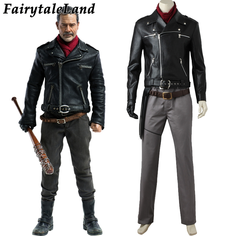 The Walking Dead Negan Cosplay Costume TV saison 8 carnaval Halloween Costume pour adulte Cosplay Negan costume veste en cuir