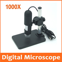 1000X HD 1000 times Digital Magnifying Glass USB Electron Microscope Measurement and Calibration Software with Camera Recording