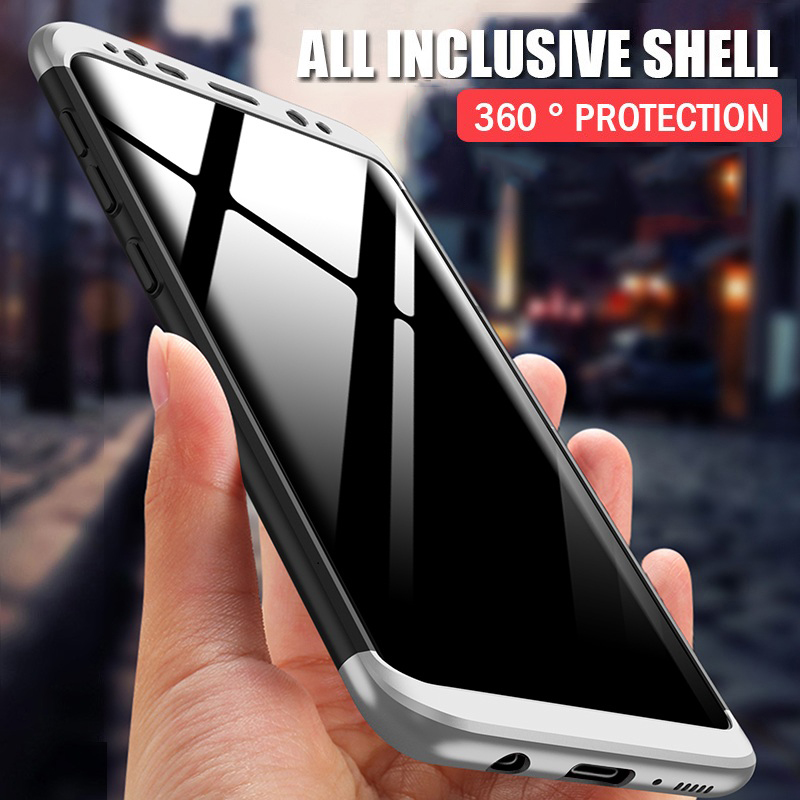 H&A 360 Full Protection Phone Case For Samsung Galaxy S9 S8 Plus S7 Edge NOTE 8 Shockproof Hard Cover For Samsung S8 S9 Cases