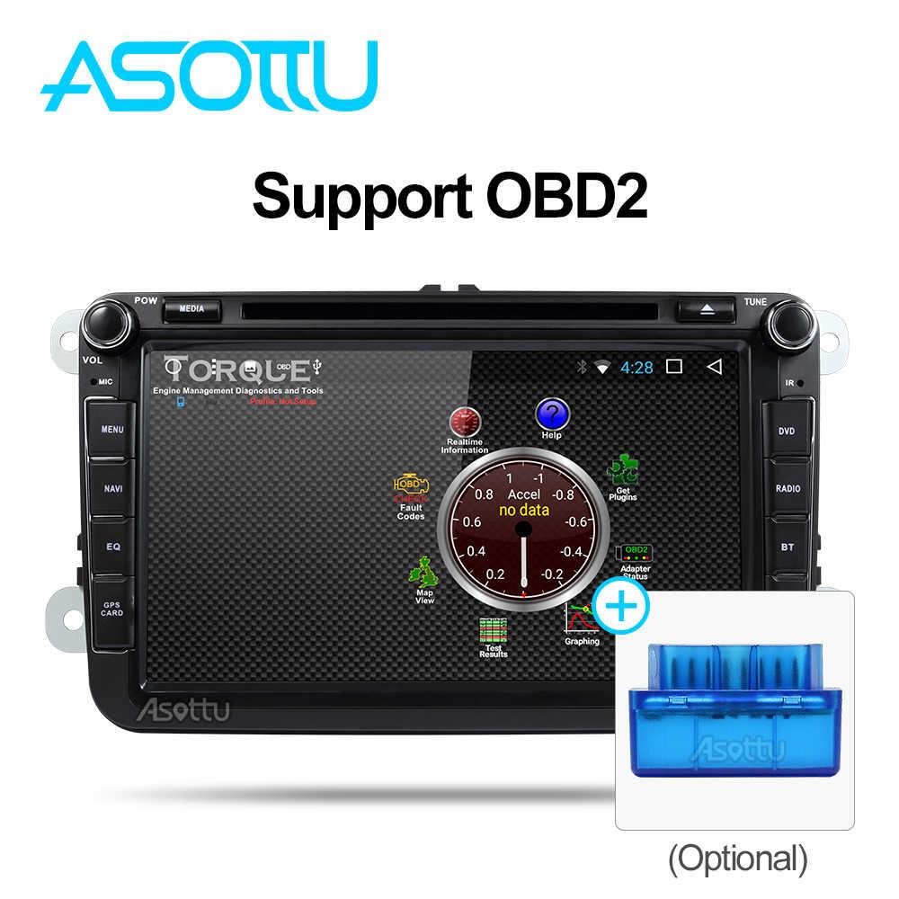 Asottu KCDZ8060 2G + 32 GB 1024*600 reproductor de dvd del coche para skoda VW POLO GOLF 5 6 PASSAT CC JETTA TIGUAN TOURAN Fabia Caddy gps Player