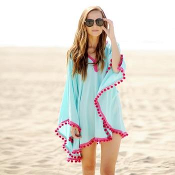 Cotton Tassel Bathing Beach Dress