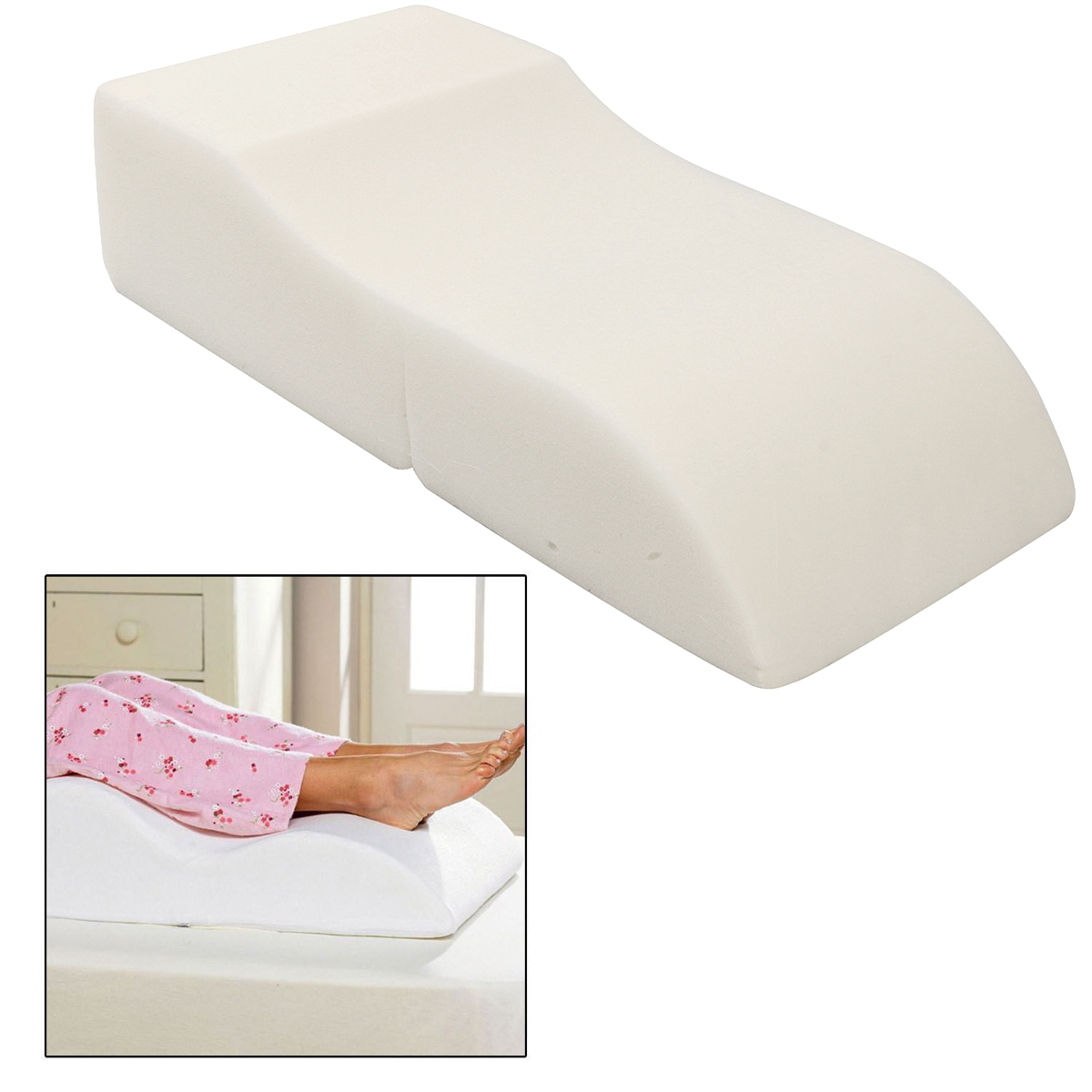 S Shape Sponge Portable Travel Footrest Leg Raiser Pillow Plane Train Body Bed Foot Rest Relax Support Pillow Pad Massage Pillow
