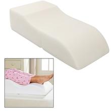 S Shape Sponge Portable Travel Footrest Leg Raiser Pillow Plane Train Body Bed Foot Rest Relax Support Pillow Pad Massage Pillow
