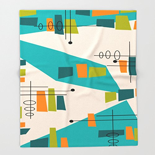 Mid-Century Modern Abstract Throw Blankets 68 x 80 Blanket Throw on Sofa Bed Plane Plaids Solid Bedspreads Home Textile