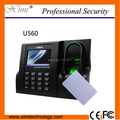 13.56MHz fingerprint time attendance machine Linux system 3 inches TFT Screen tcp/ip biometric time attendance