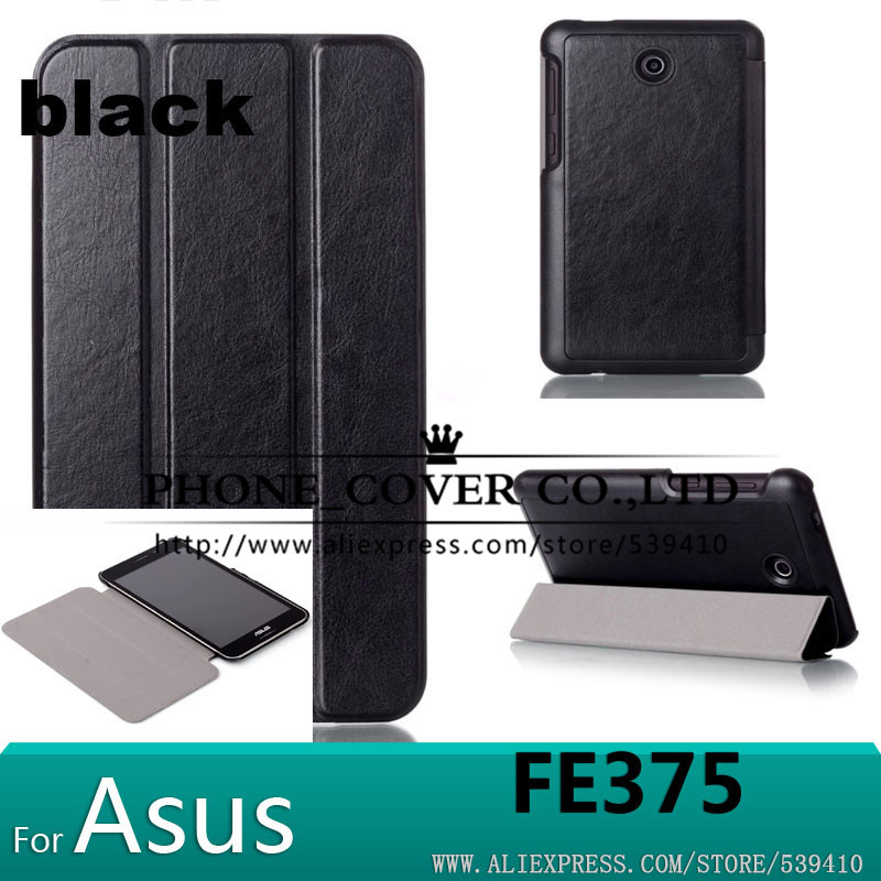 Magnet stand leather case cover for Asus FonePad 7 FE375CG FE375CXG FE7530CXG FE375 K019 tablet case +screen protectors+stylus resale me572 flip leather case for asus memo pad 7 me572c me572cl magnet cover case screen protectors