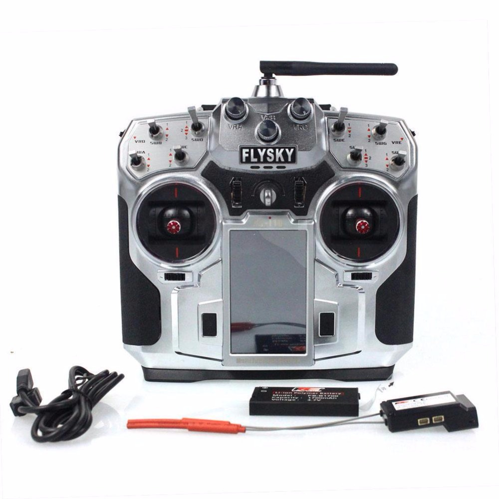 FS-i10 Flysky 2.4G 10CH AFHDS2A LCD Radio Transmitter & Receiver for RC Mode