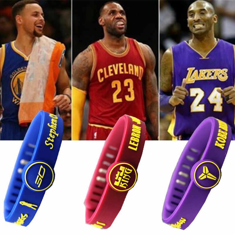 O astro do basquete Equipe pulseira de Silicone ajustável Jordan Kobe James Durant Curry Fãs Pulseira Homens Mulheres Pulseira Pulseira de esportes