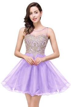 Vestidos de Renda Cheap Golden Lace Black Chiffon Homecoming Dresses Real Image Short Prom Dresses Vestido de Festa Curto