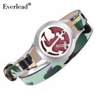 Everlead New Fashion Real Leather Bracelet Essential Oil Diffuser Locket Bracelet For Women Free With Pads