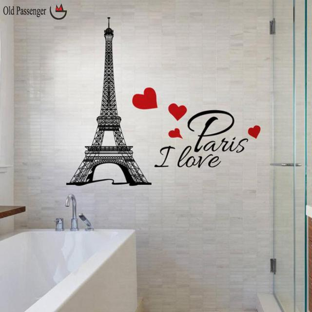 Old Penger New Paris Tower Room Wall Decoration Stickers For Kids Rooms Home