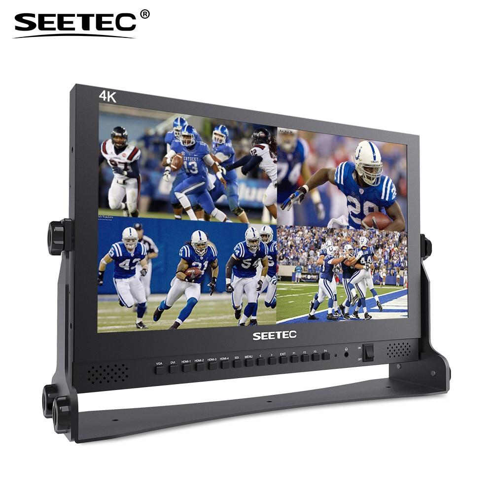 Moniteur de diffusion 17.3 pouces IPS UHD 3840x2160 4 K Seetec 4K173-9HSD-384 avec écran LCD 3G-SDI HDMIx4 Quad Split 17.3