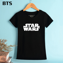 BTS Star Wars The Last Jedi T-shirt Women O Neck Cool Hipster Brand T Shirts De Mulher Summer Style Printed Tee Shirt Femme