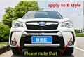 Apto Para Subaru Forester 2013-2016 Front + Rear Bumper Difusor para Choques Lip Guard Protector skid placa ABS Chrome acabamento 2PES
