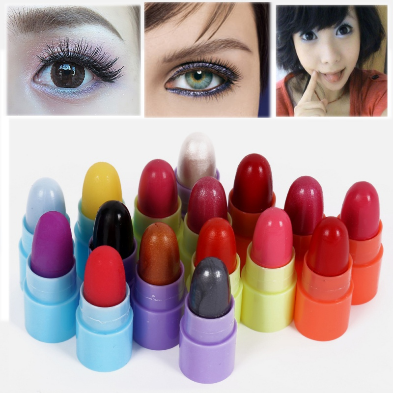 Fashion 16 pcs Mini Travel Makeup Set Including Matte Lipstick Eye Shadow Lip Gloss Cosmetics Set for Ladies Gift
