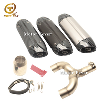 Motorcycle Exhaust Escape Muffler 51MM DB Killer Exhaust 370MM Scooter Silencer Tube Clamp for Benelli 600 Exhaust System MIVV