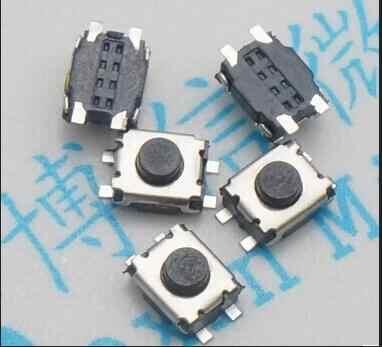 50 ชิ้น smd ชิป 3*4*2 มิลลิเมตร Micro ปุ่ม 3X4X2 สวิทช์ 4 pin เต่าเล็กๆเดียวกระสุนอุณหภูมิ 3x4x2 มิลลิเมตร