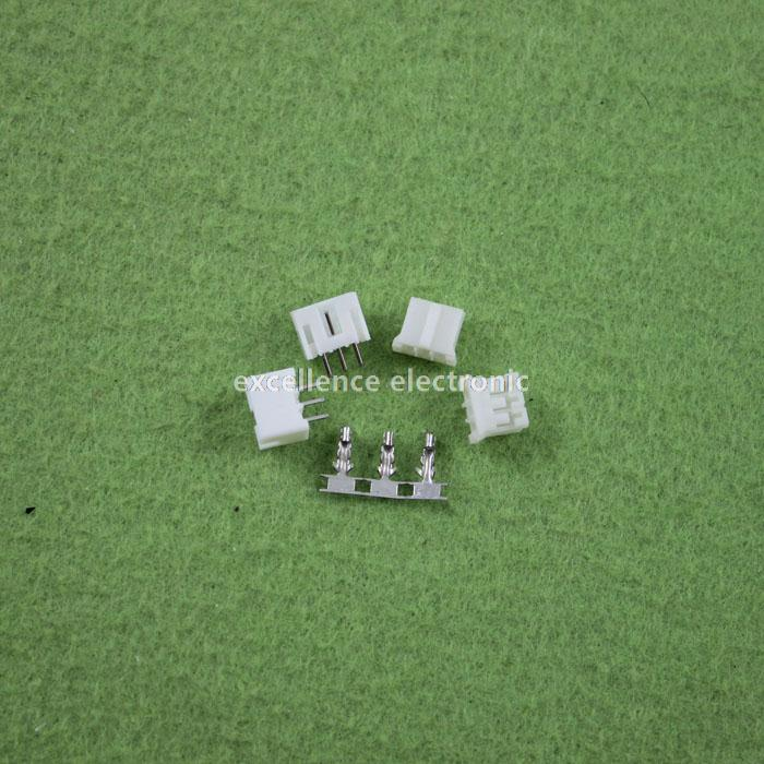 100 Sets, Micro JST 2.0 PH 3-Pin Connector plug Male ,Female, Crimps jst xh2 54 2 3 4 5 6 78 9 10 pin connector plug male female crimps x 50sets