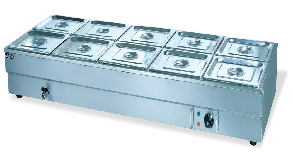 Electric 10 Pan Bain Marie Food Warmer Countertop Soup