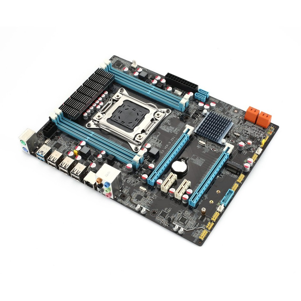 E5 3.2S1 Motherboard  Intel 6series or 7series chipset 4*channel *DDR3 DIMMs ECC Solid capacitors military grade materials(China)
