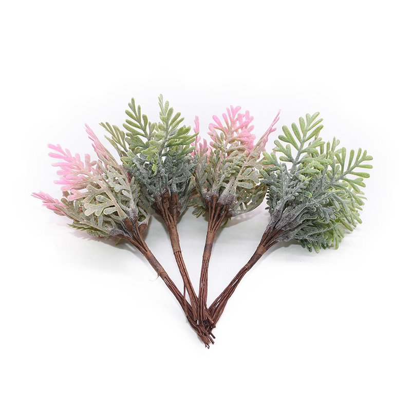 10 20pcs Mini Artificial Leaf Twig Ornaments Fake Plant Flowers Bouquet DIY Hand Wedding Christmas Decoration Garland Crafts in Artificial Plants from Home Garden