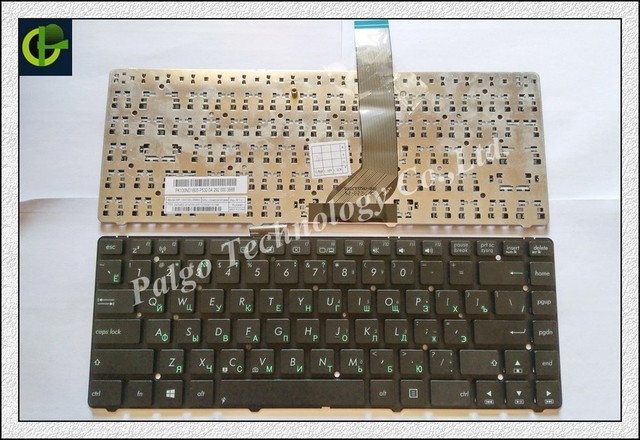 Russian Keyboard for Asus K45A K45V K45VD K45VJ K45VM K45VS K45VS AK46 S46 E45 K46 RU Black keyboard same as photo